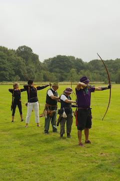 Longbow archers shooting 2-way